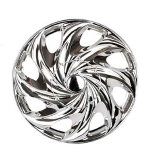 "NEW SPIRAL WAVE CHROME SILVER COLOR WHEEL RIM COVER 14"" 15"""
