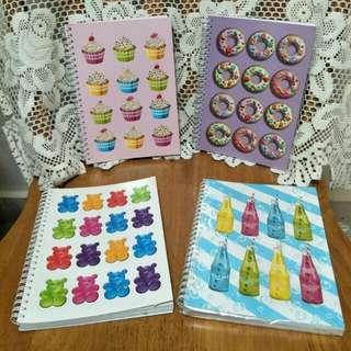 Candylicious Ringed Note Book Set Of 4.