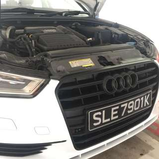 Audi A3 Plastidip spraying services plasti dip