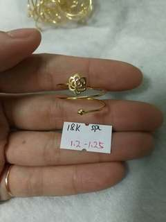18k gold adjustable rings available in 3 designs!real 18k gold!
