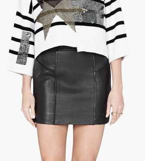 Sass & Bide Leather Skirt