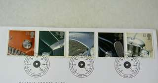 Great Britain UK England Classic Sports Car Stamps & Postmark #1