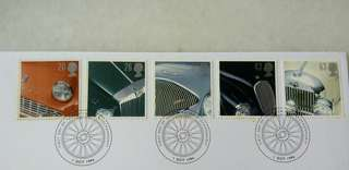 Great Britain UK England Classic Sports Car Stamps & Postmark #2