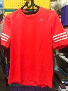 Adidas running tshirt bright orange