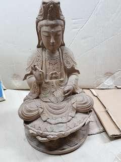 Vintage wood chinese statue Buddha