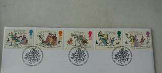 Great Britain UK England Christmas '93 Stamps & Postmark #1