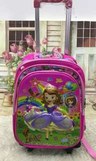 Kids TROLLEY BAG  girl School Bag
