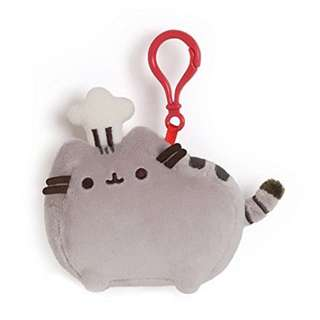 """[In Stock!] GUND Pusheen with Chef Hat Stuffed Plush Backpack Clip, 4.5"""""""
