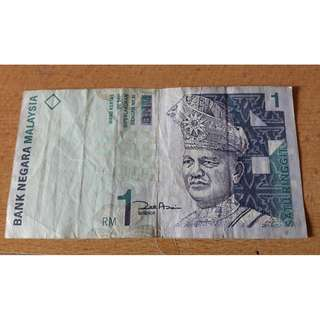 RM1 Malaysian Old Notes - 2 Pieces