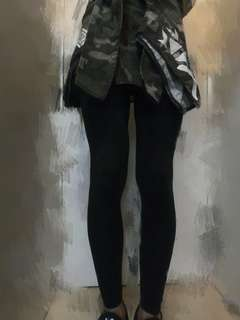型格,靚料假2件leggings