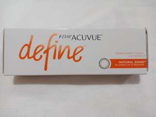 1 Day Acuvue Define (-1.75)(Natural Shine)