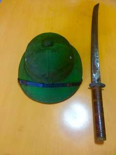 Vintage North Vietnamese Army Pith Helmet Authentic
