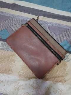 Parfois clutch (three compartments)