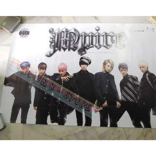 [CRAZY DEAL 90% OFF FROM ORIGINAL PRICE][READY STOCK]MPIRE KOREA OFFICIAL POSTER!!NEW! OFFICIAL ORIGINAL FROM KOREA (SELAED) (PRICE NOT INCLUDE POSTAGE) SHIP USING TUBE