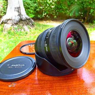 Sigma 10-20mm f/4-5.6 DC HSM Canon Mount wide lens