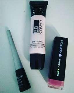 Eyeliner, BB Cream, Lipstick Take it All