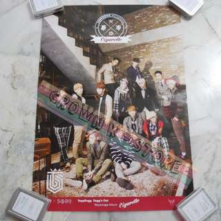 [CRAZY DEAL 90% OFF FROM ORIGINAL PRICE][READY STOCK]TOPPDOGG KOREA OFFICIAL POSTER!!NEW! OFFICIAL ORIGINAL FROM KOREA (SELAED) (PRICE NOT INCLUDE POSTAGE) SHIP USING TUBE