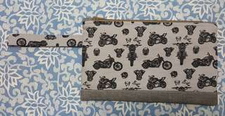Handmade Zipper Pouch with Handle