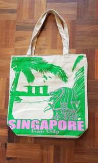 NEW Singapore Zippered Souvenir Bag