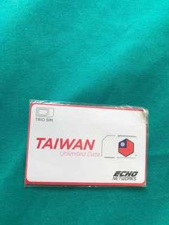Selling Taiwan SIM card (unlimited 15d data)