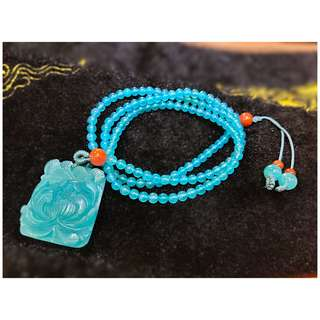 Amazonite necklace with pendant 天河石项链+吊坠