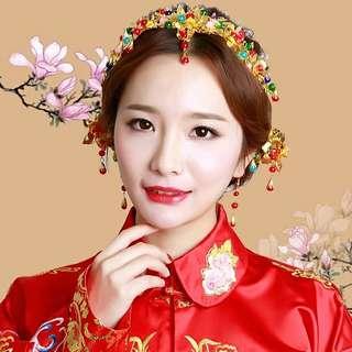 Bridal Wedding Chinese Kwa Head Hair Accessories