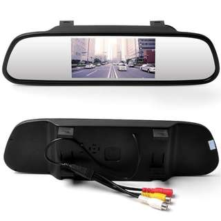 "422. 5"" TFT LCD Color Monitor Mirror Reverse Car Rear View Backup Camera"