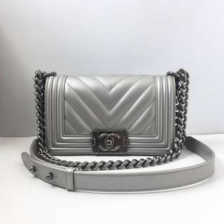 Authentic Chanel Small Boy Flap Bag