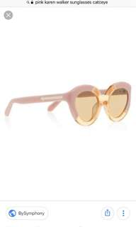 Karen walker pink cat eye sunglasses