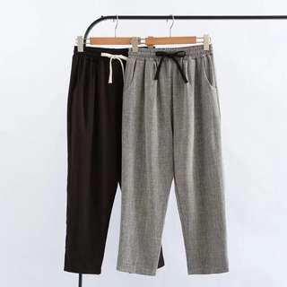 (XL~4XL) Women cotton linen harem pants summer loose pants