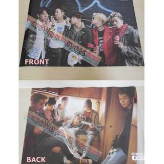 [CRAZY DEAL 90% OFF FROM ORIGINAL PRICE][READY STOCK]WINNER KOREA OFFICIAL DOUBLE SIDED POSTER!!NEW! OFFICIAL ORIGINAL FROM KOREA (SELAED) (PRICE NOT INCLUDE POSTAGE) SHIP USING TUBE