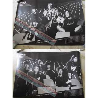 [LAST 1][CRAZY DEAL 90% OFF FROM ORIGINAL PRICE][READY STOCK]WINNER KOREA OFFICIAL DOUBLE SIDED POSTER!!NEW! OFFICIAL ORIGINAL FROM KOREA (SELAED) (PRICE NOT INCLUDE POSTAGE) SHIP USING TUBE