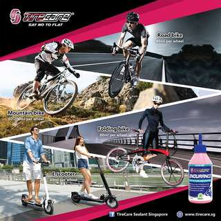 FREE $42 worth of gifts w purchase of Tirecare Endurance Sealant for Bicycles