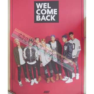 [LAST 1][CRAZY DEAL 90% OFF ORIGINAL PRICE][READY STOCK]IKON KOREA OFFICIAL POSTER!!NEW! OFFICIAL ORIGINAL FROM KOREA (SELAED) (PRICE NOT INCLUDE POSTAGE) SHIP USING TUBE