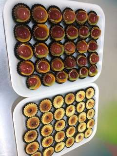 Mini fruit tart, cheese tart, chocolate tart , coconut tart