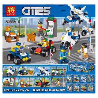 LELE™ 28002 City Police 8in1 Minifigures Sets
