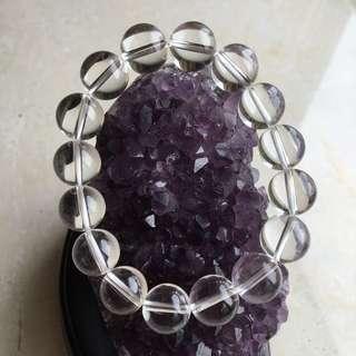 〘TS.Crystal〙頂級全美-白水晶圓珠 12mm