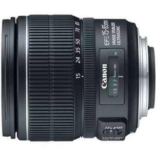 Canon lens efs 15-85mm ultrasonic IS USM