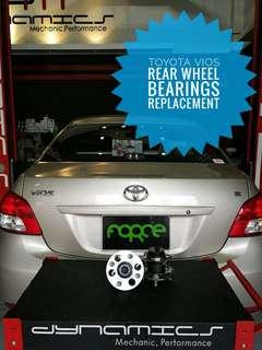 Toyota Vios: Rear Wheel Bearings Replacement