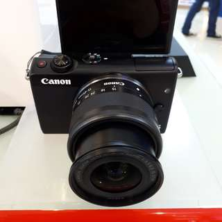 Kamera Canon Eos M100 New Mirorless (Cicilan BUNGA 0%)