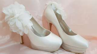 White platform heels 6 inches (suitable for bridal shoot)