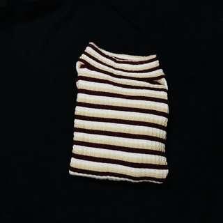 條紋高領毛衣