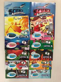 Science adventures 10 books (1-10 issues) level 3