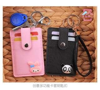 Cute Card holder with keys chain