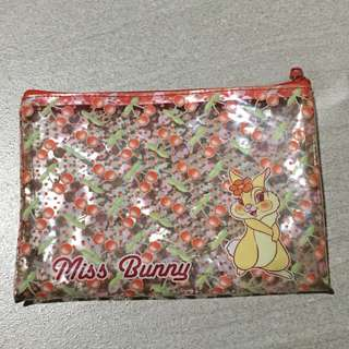 Miss bunny pouch/pencil case