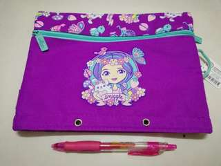 Smiggle A5 squad pencil case purple rm39 NEW