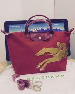 LONGCHAMP Le Pliage Année Du Cheval Horse Top-Handle Bag