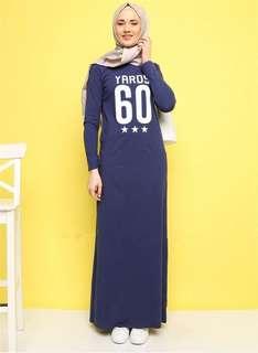 Muslim Women's Long Sleeve Malay Ethnic Leisure Dress