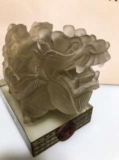 Volcanic Liu Li (Natural Crystal Glass) Dragon Tortoise Sculpture #Easter20