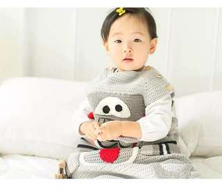 Crochet baby sleeping bag (robot)